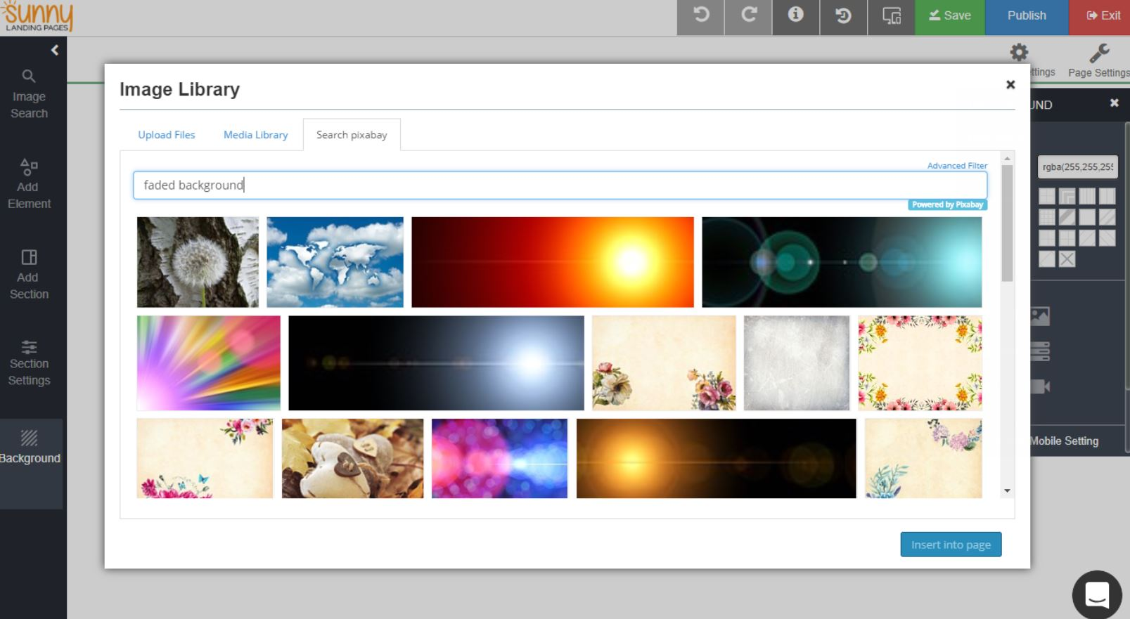 Sunny Landing Pages image library