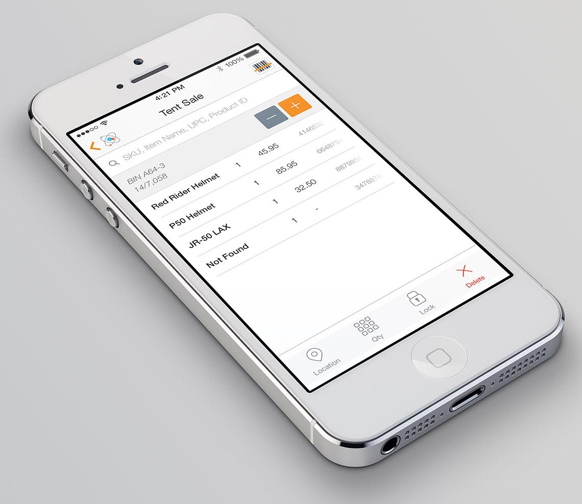 MicroBiz Cloud POS Software - iPhone view