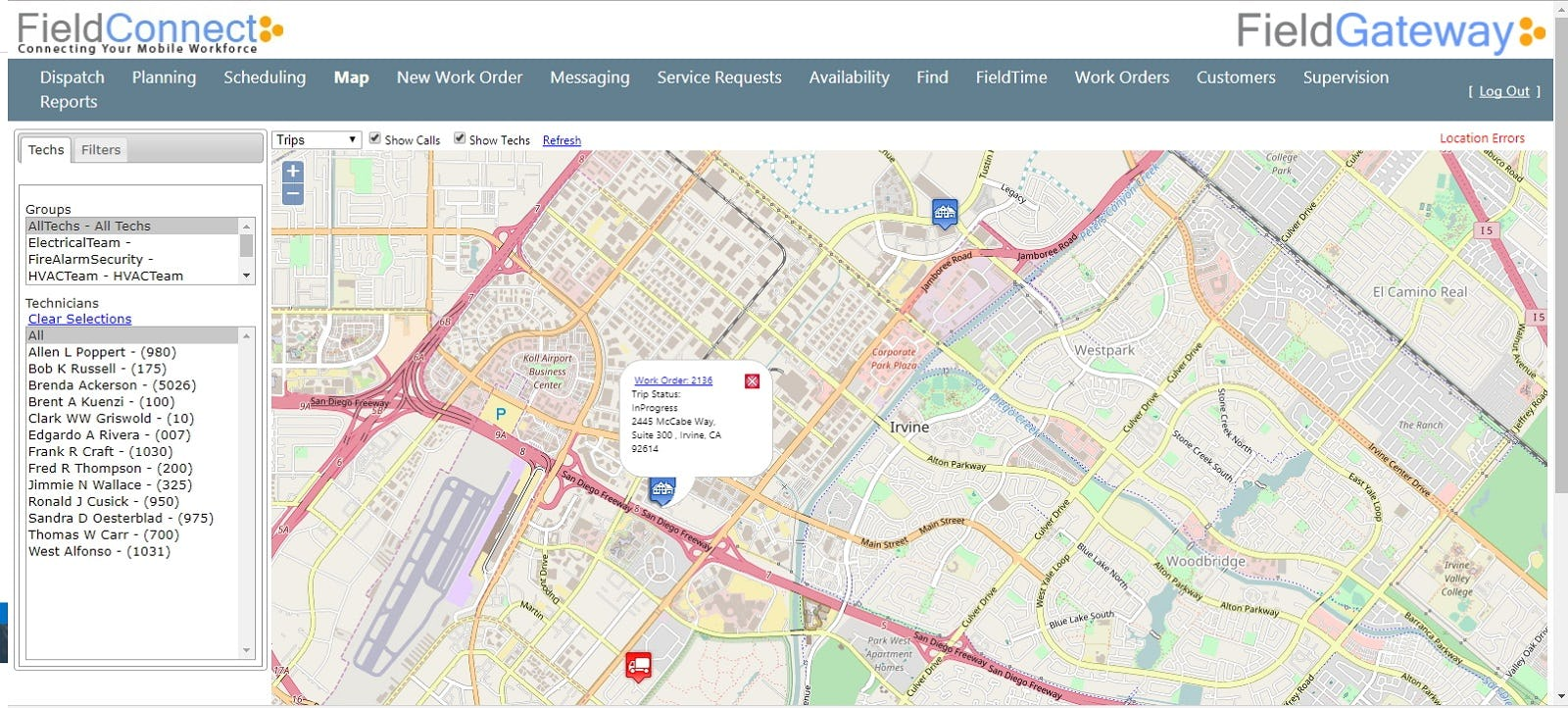 FieldConnect Software - Maps and Back Office Management