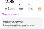 GoVida screenshot: GoVida User Dashboard