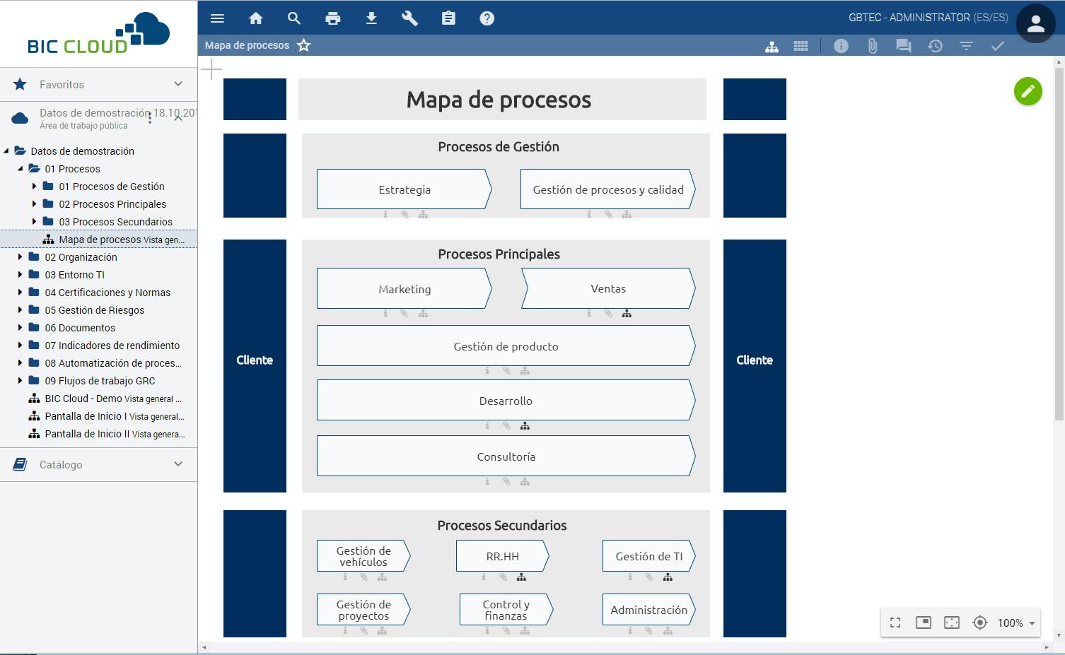 Process Landscape (Spanish Interface)