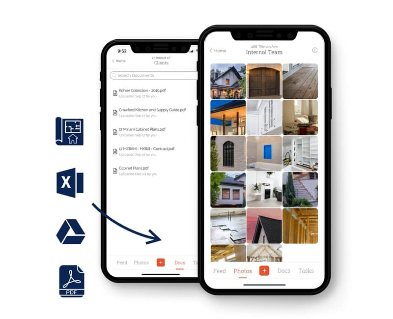 Capture, tag, and organize every photo, video and doc by project for everyone to see. Make sure your client and team stay informed.
