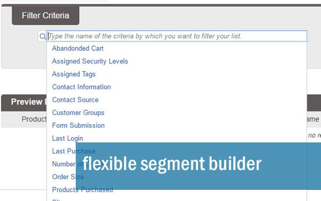 Flexible segment builder