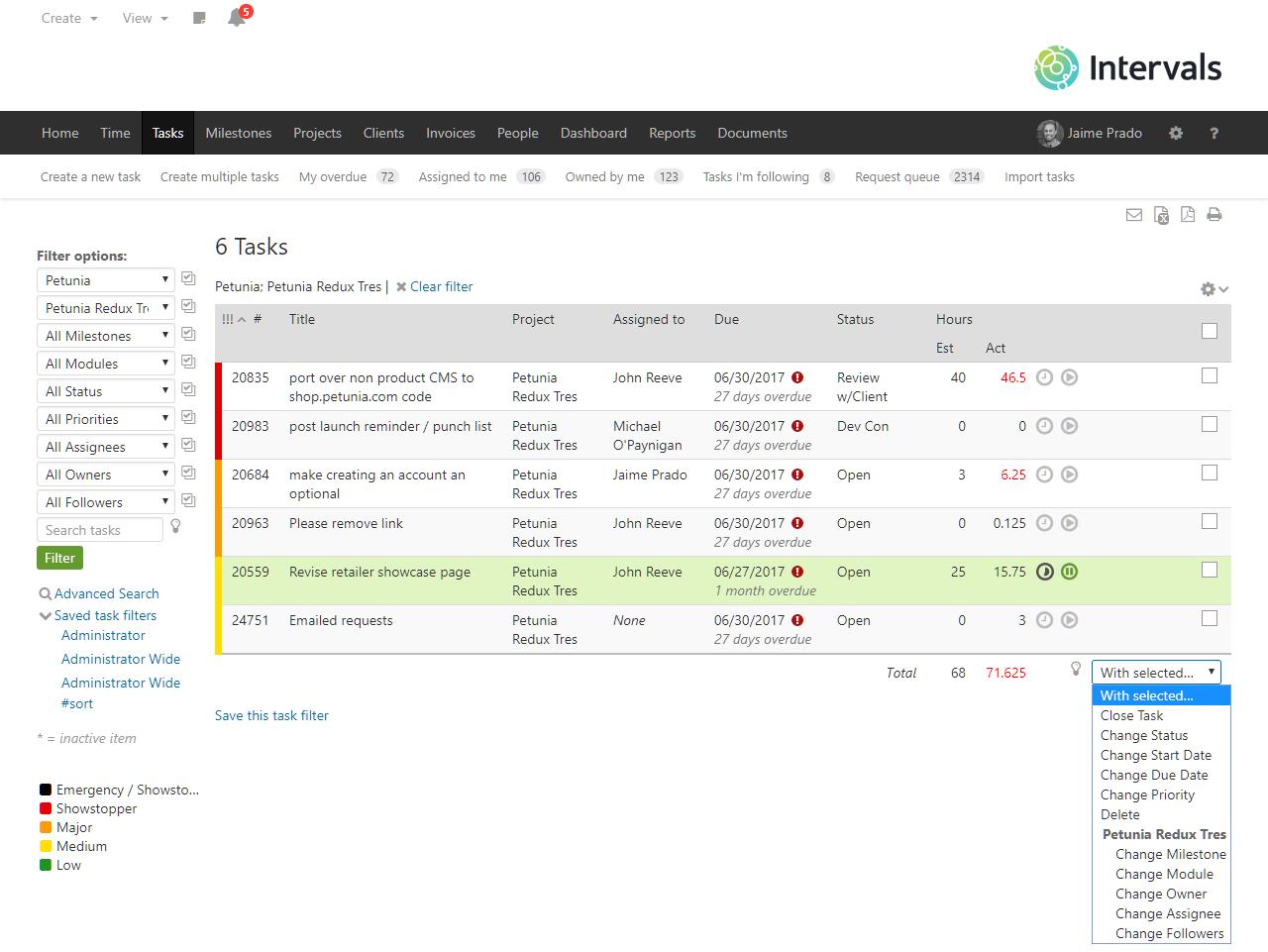 Task Managmenet with customizable workflows