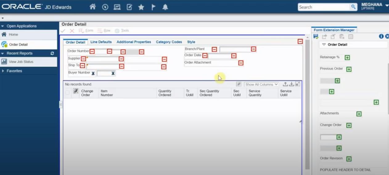 JD Edwards EnterpriseOne Software - JD Edwards EnterpriseOne order details