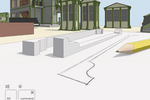 SketchUp screenshot: SketchUp's desktop modeler is designed to behave like your hand, so you can draw and extrude geometry quickly.