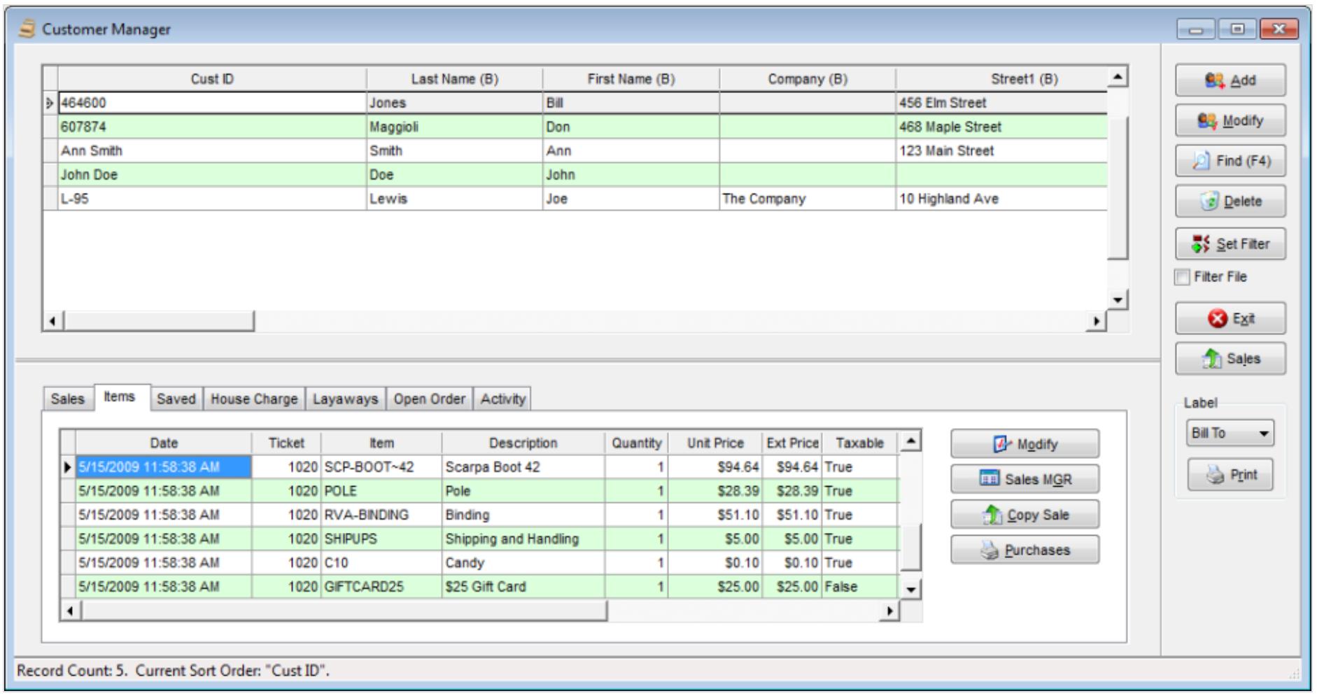 RetailEdge Software - RetailEdge customer manager