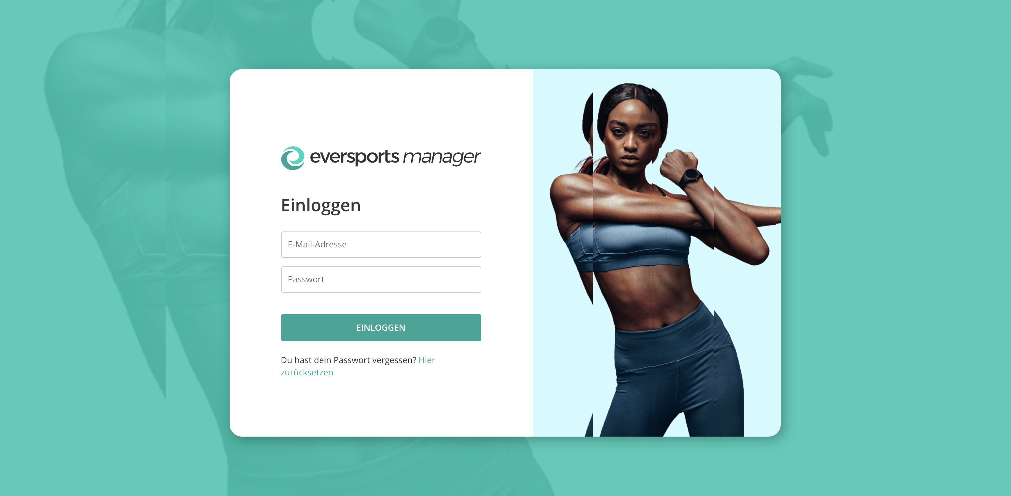 Eversports Manager login page screenshot
