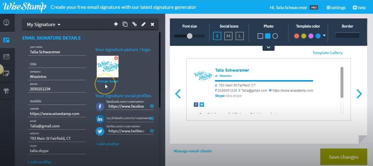 WiseStamp Software - WiseStamp edit email signatures