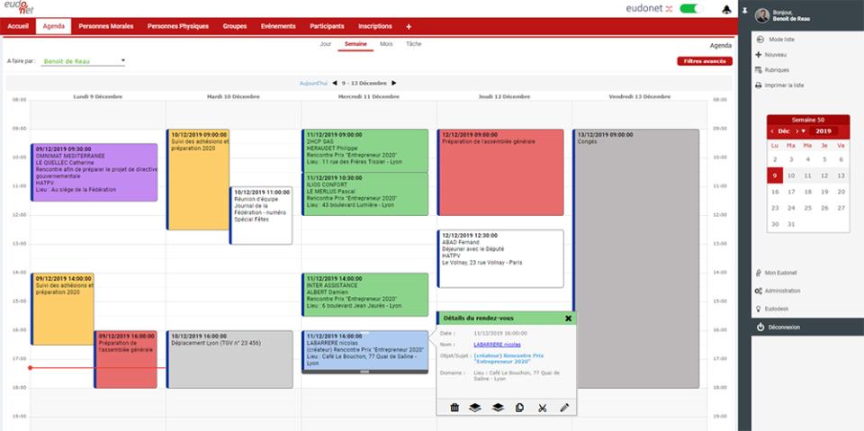 Eudonet Software - Planning