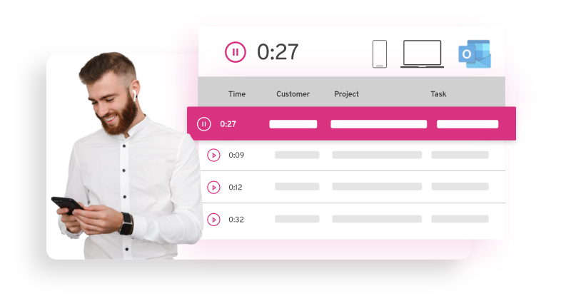 Easy time tracking for more invoicing and high quality reporting