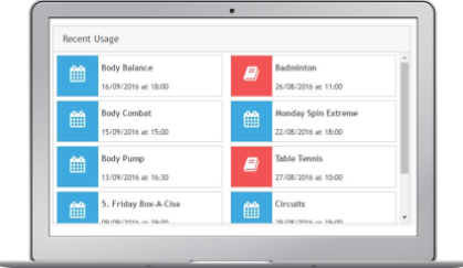 Users are able to access and book classes and activities within the system