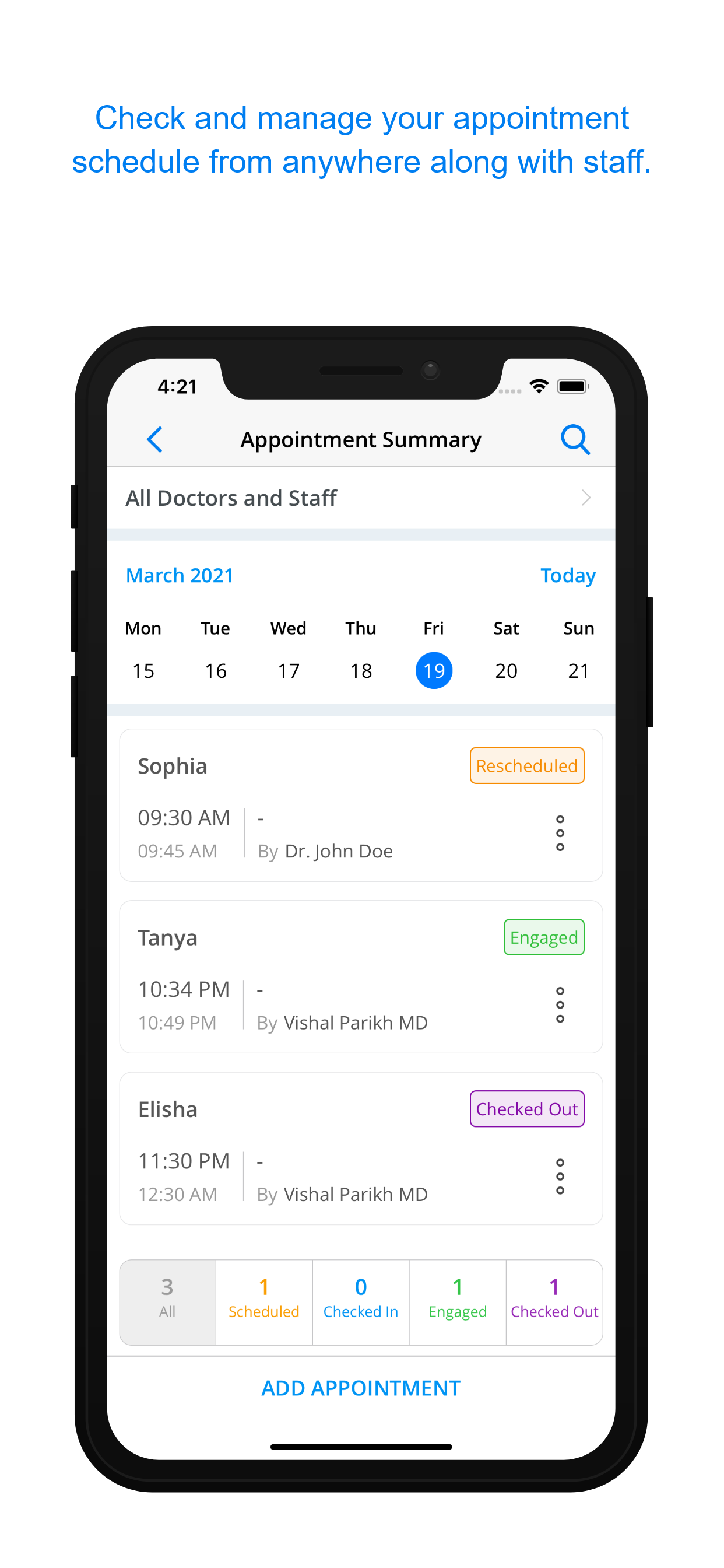 Appointment Scheduling and reminders