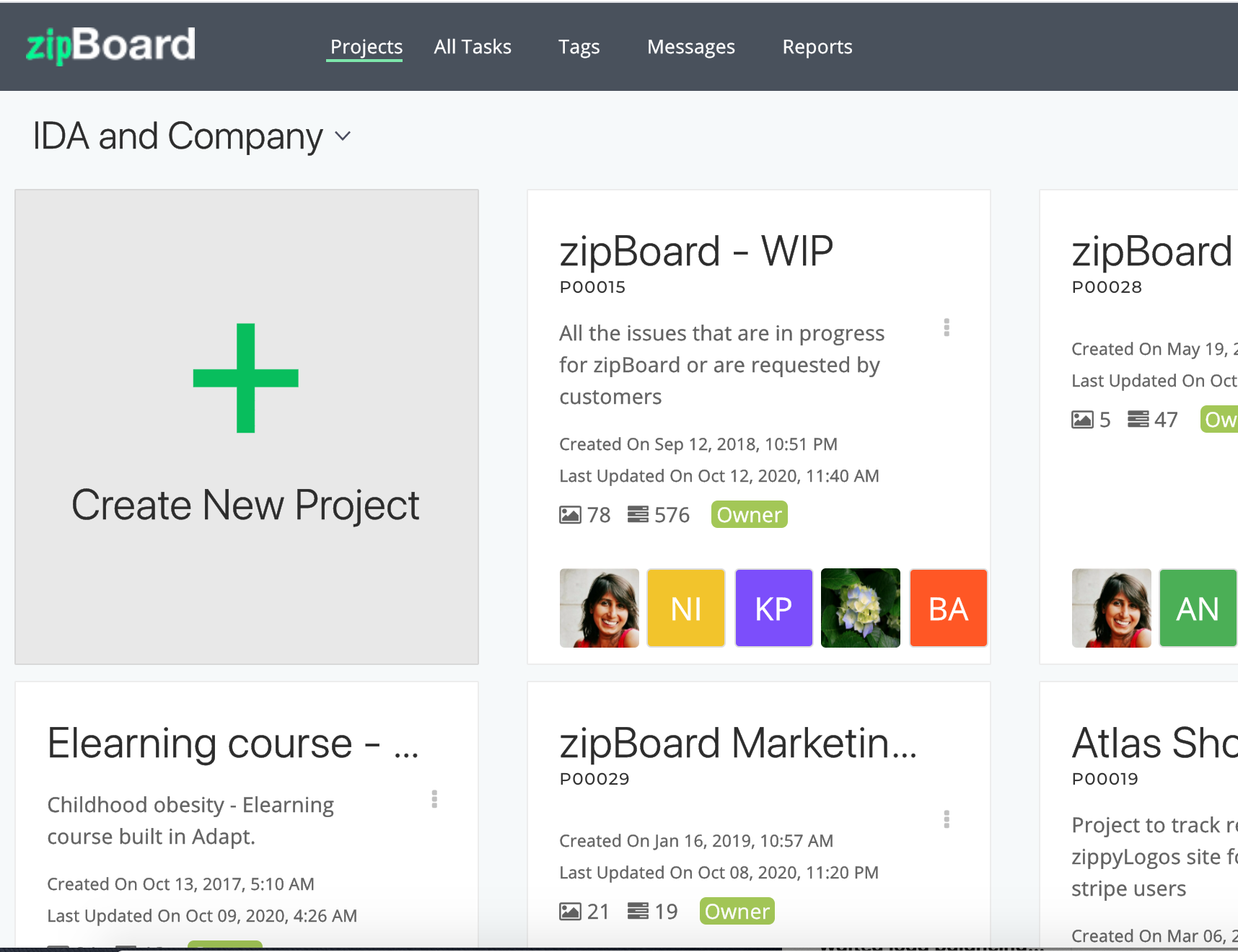 Manage separate client projects into separate projects for better tracking and management