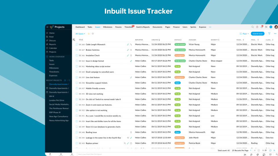 Inbuilt Issue Tracker