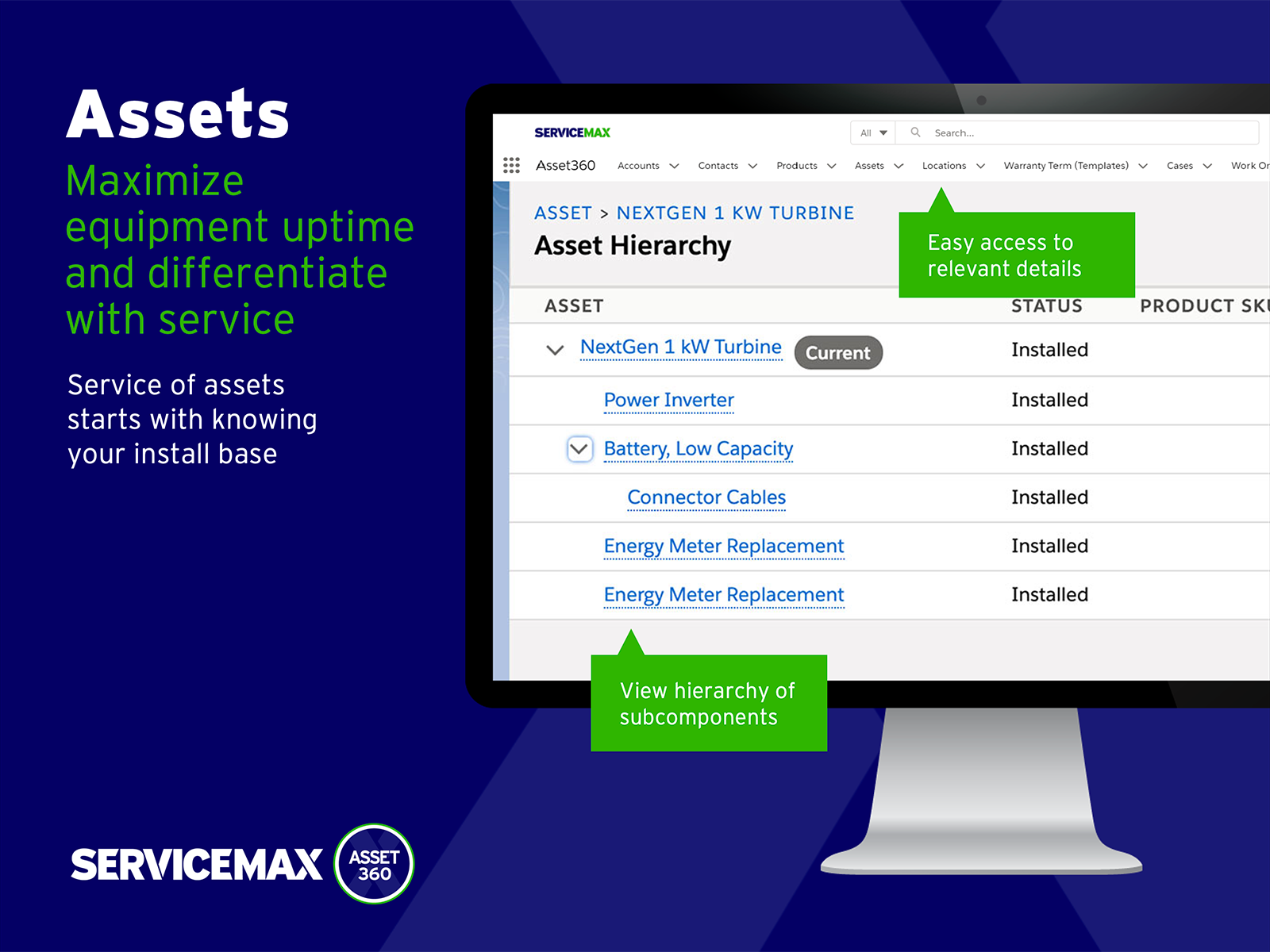 ServiceMax Software - Equipment across all industries is becoming more complex while customer expectations of service are on the rise. It is more important than ever for service providers to know their installed base in the field.