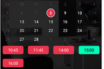 SmartCoiffeur screenshot: SmartCoiffeur: calendar to manage idle time and assistance bookings