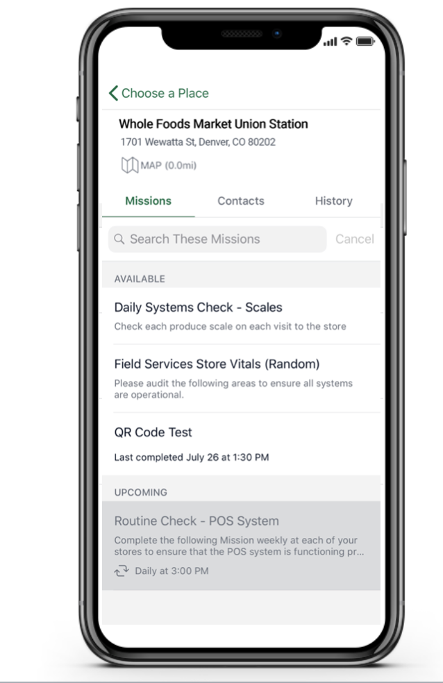 Prioritize daily checklists & tasks and give teams context about the work to be completed & why it matters, all in one place, organized & accessible on their mobile device.
