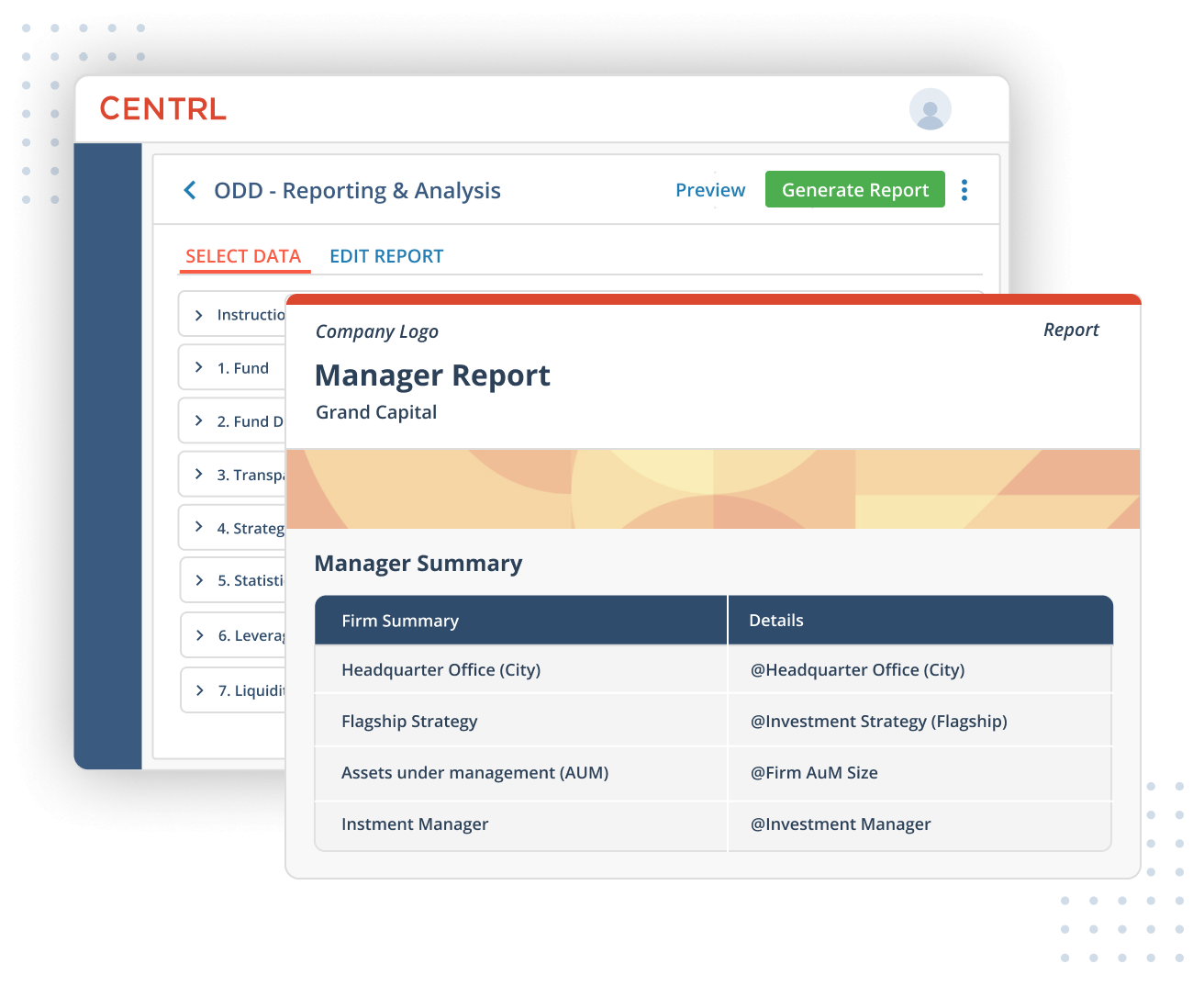 ODD360 manager reports
