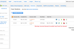 CaseFox screenshot: Invoice Listing