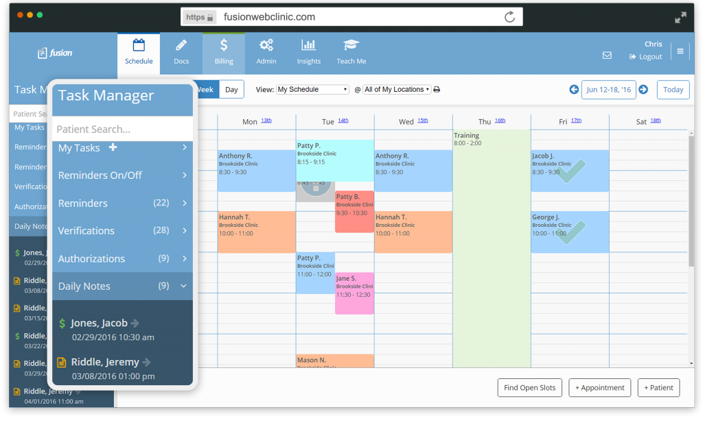 Auto-create tasks and control workflows, and track everything from daily documentation to authorizations and Rx expirations
