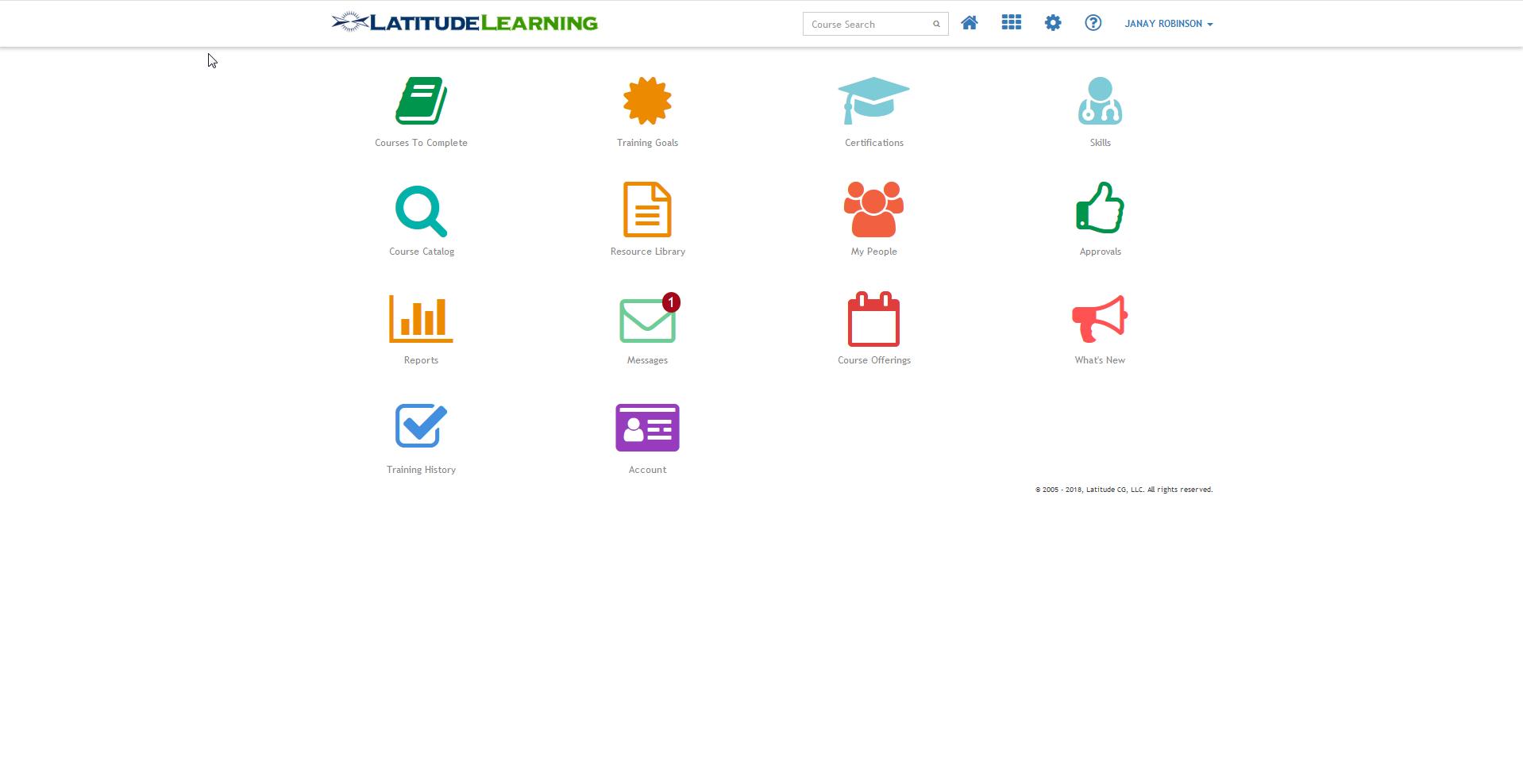 LatitudeLearning screenshot: Dashboard