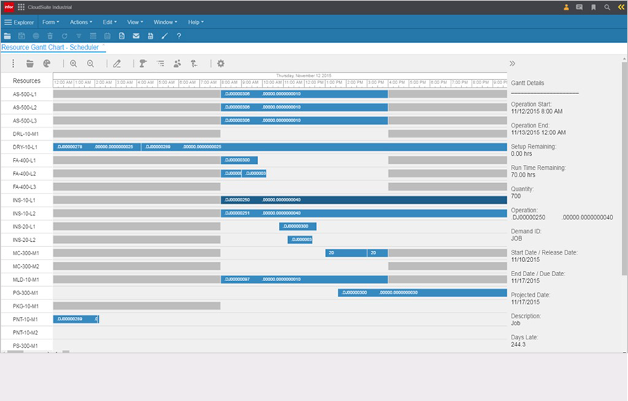 Manage production scheduling conveniently online
