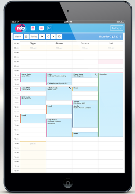Booking management features