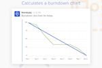 Standuply screenshot: Standuply can also calculate burndown charts from external data