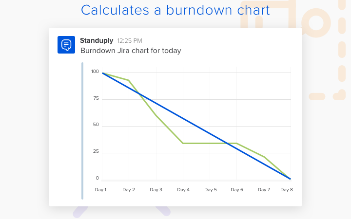 Standuply can also calculate burndown charts from external data