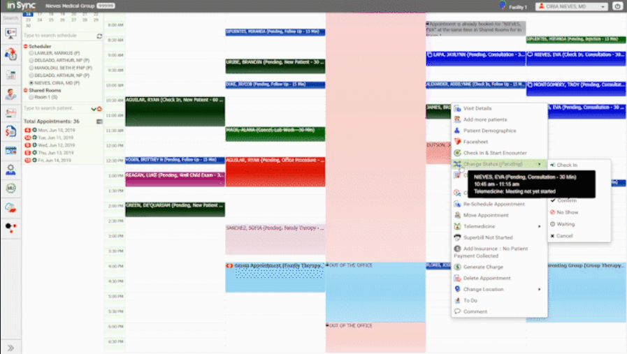 InSync Healthcare Solutions Software - InSync appointment scheduling