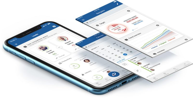 Mobile CRM with in-built AI