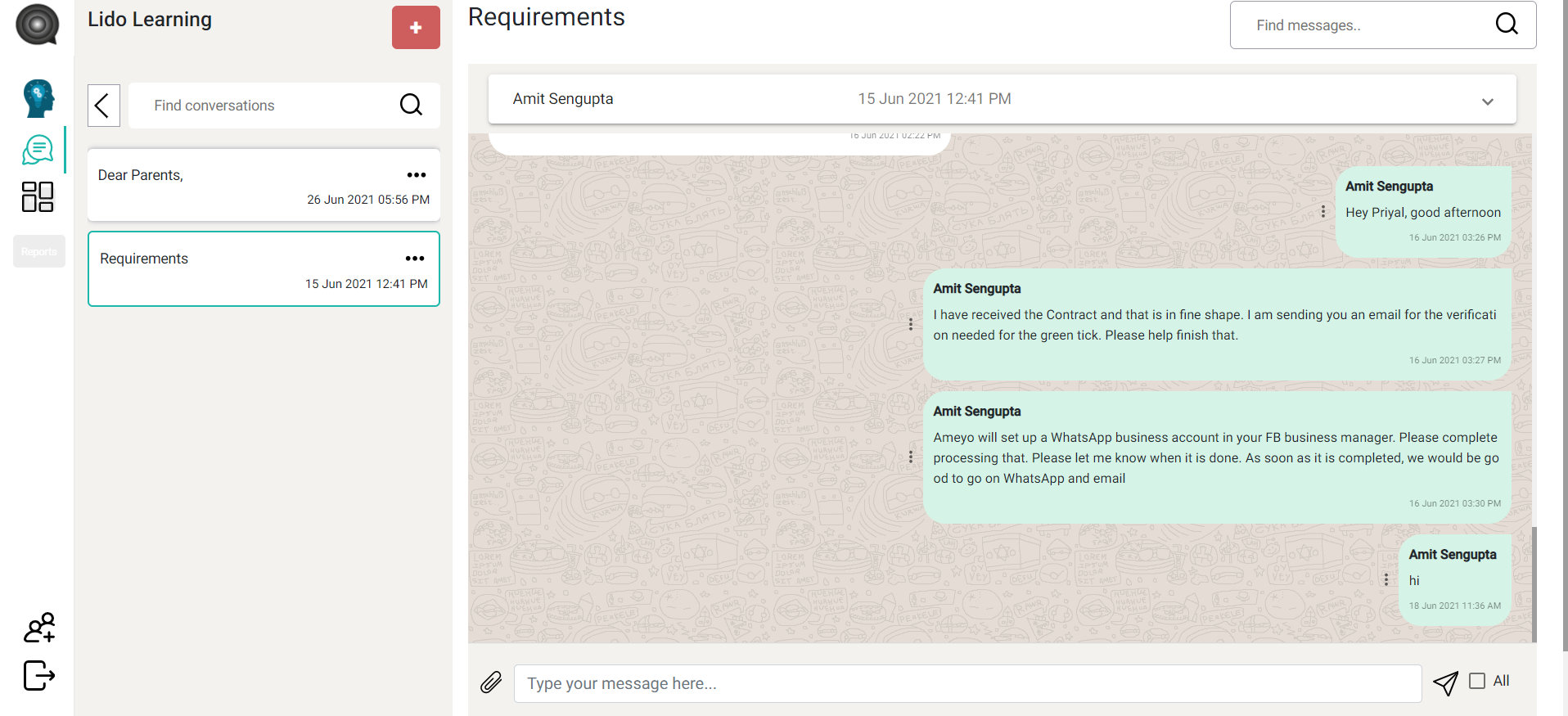 EchoApp Software - Chat