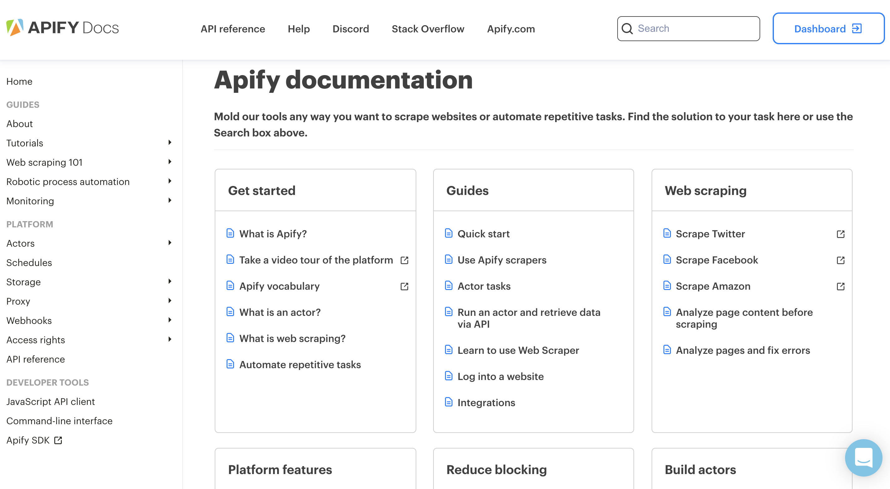 Apify Documentation is the most comprehensive web scraping library ever created.