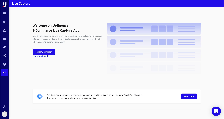 Upfluence Software - Live capture