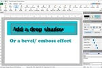 DrawPad screenshot: DrawPad add text with effects such as drop shadow and bevel