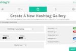 Hashtag'd Screenshot: Campaigns are created around hashtags in order to find and curate relevant content based around a topic