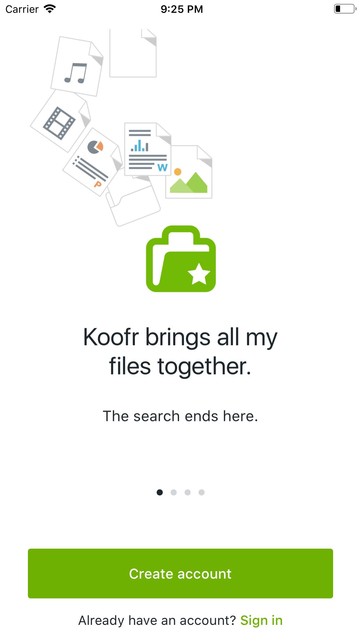 Koofr screenshot