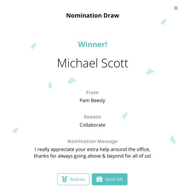 Nomination Draw Modal