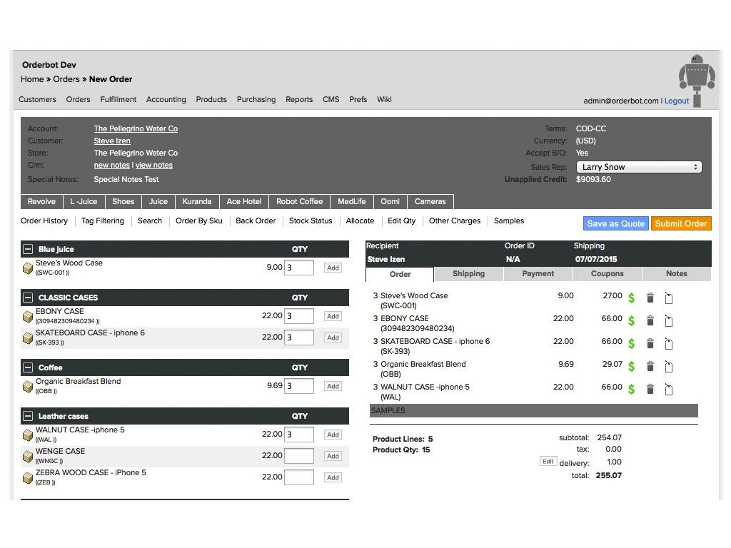 Orderbot Software - Orders