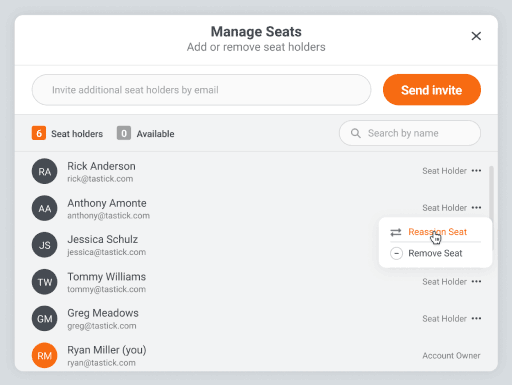 Simple and intuitive Team management tools
