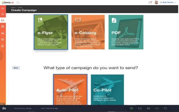 ewiz commerce create campaigns