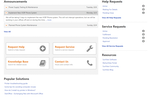 Captura de pantalla de ChangeGear: Search functionality to access knowledge base and request help