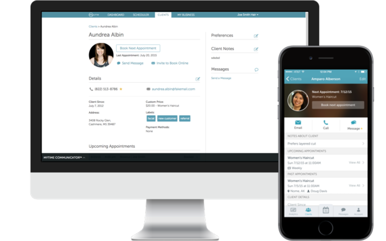 MyTime is an appointment manager, online marketing tool, and communication hub rolled into one