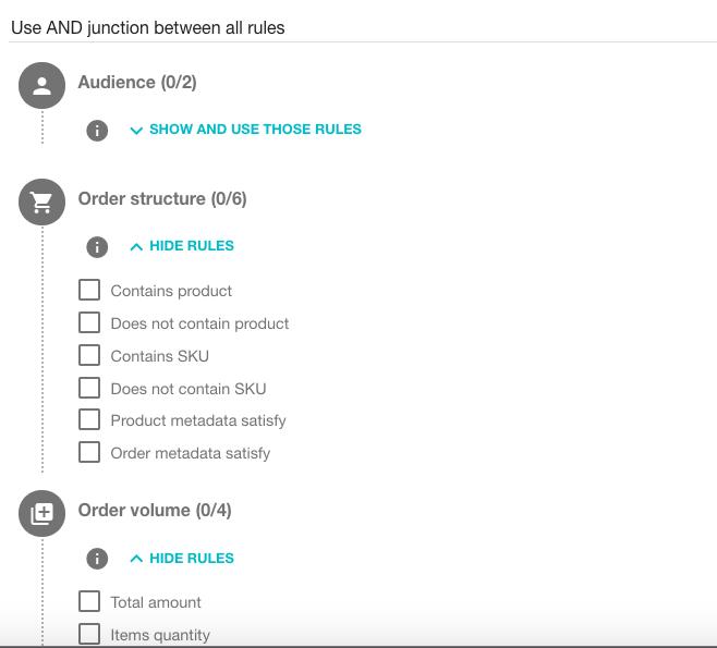 Voucherify rules screenshot