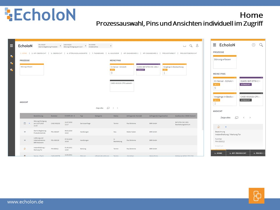EcholoN Web App overview