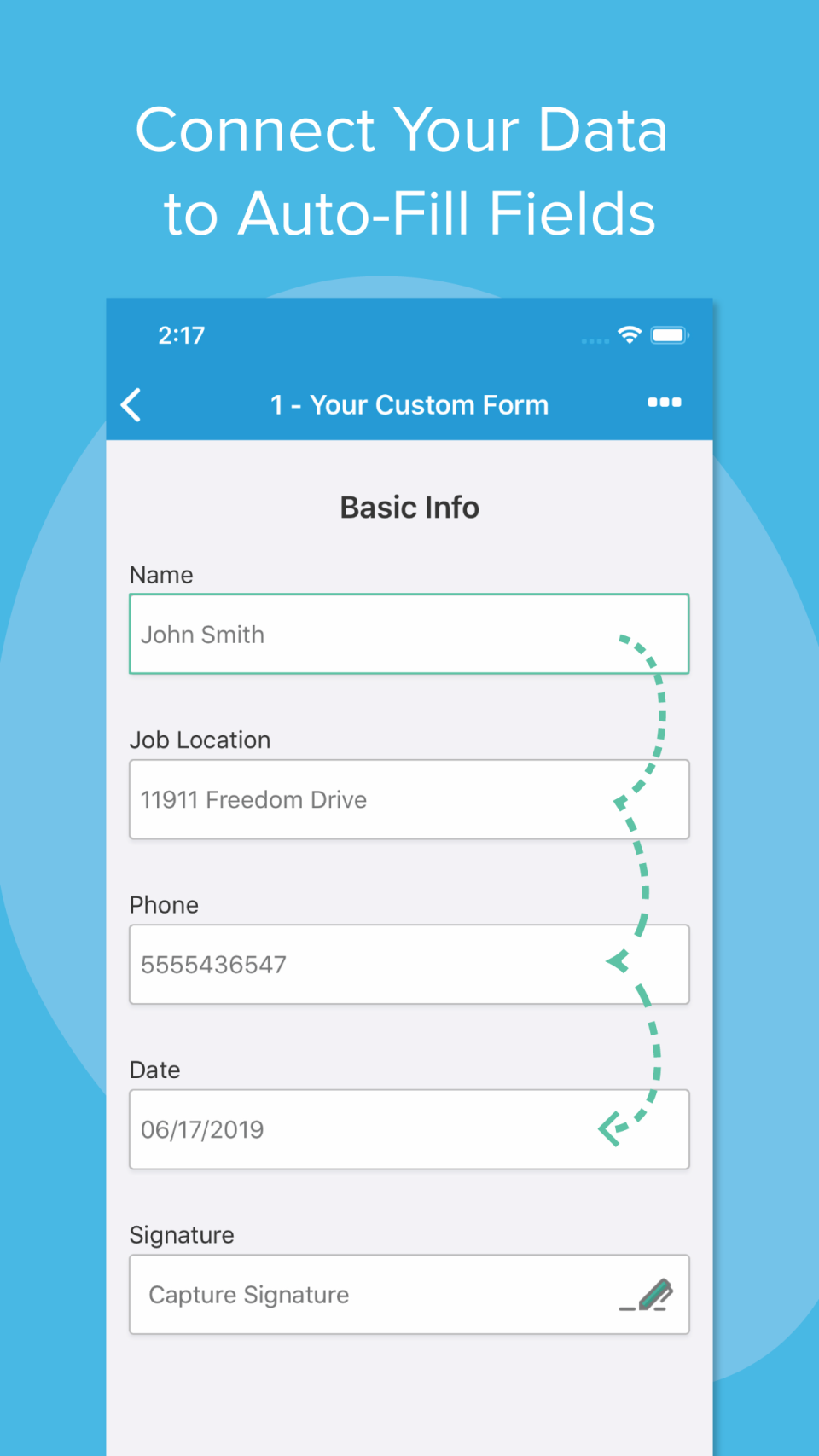 Connect Your Data to Auto-Fill Fields