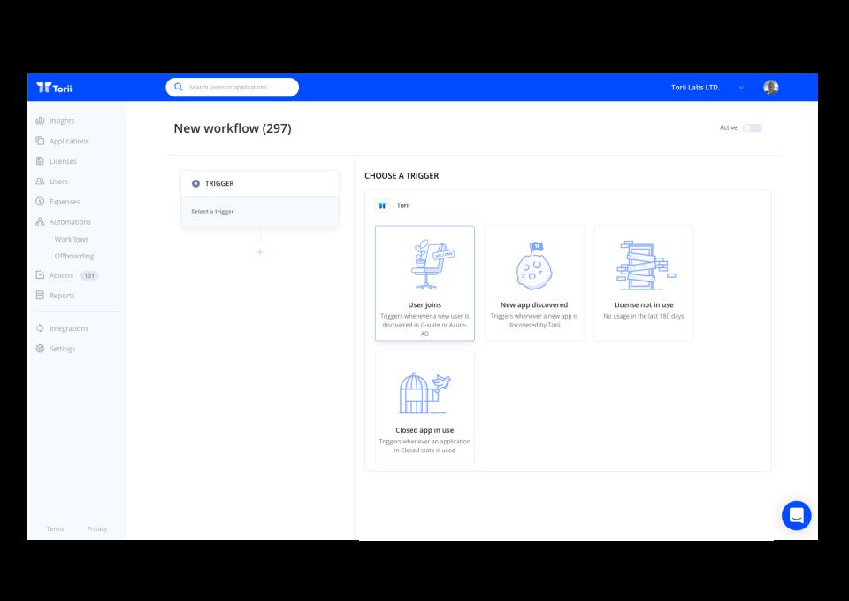 Torii Software - Easy Workflow Setup