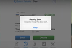 eBizCharge screenshot: Users can send transaction receipts to their customers
