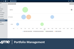 4me screenshot: 4me includes portfolio management features to help organizations with demand management.